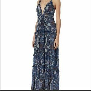 Intermix chiffon Long Maxi Dress $450 100% Silk